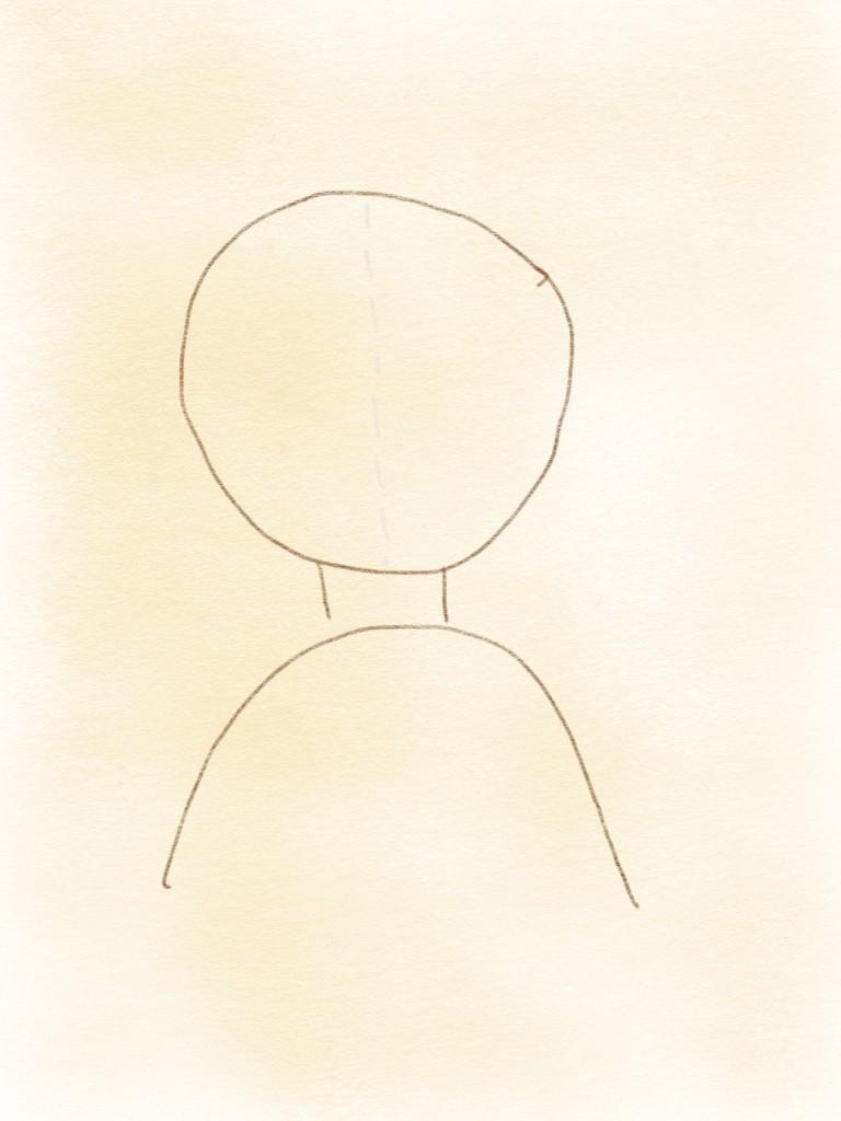 Kopf Vorlage Haar zeichnen