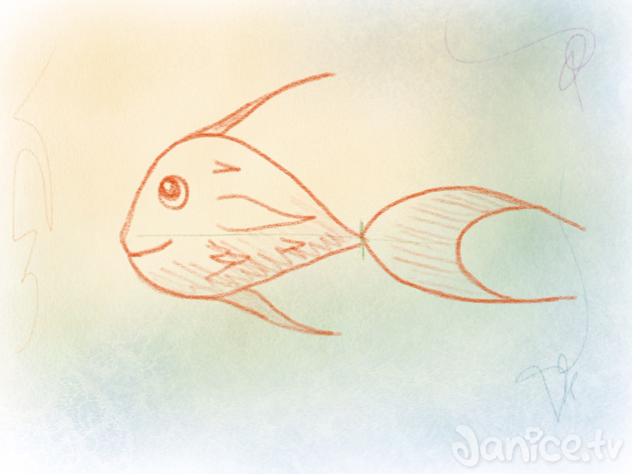 fische zeichnen minuten kreativkurs
