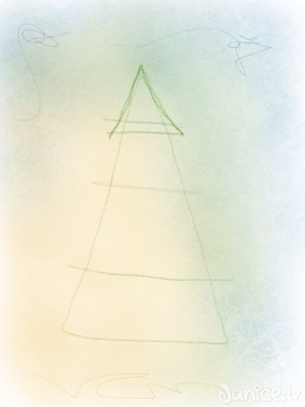 weihnachtsbaum zeichnen – 03