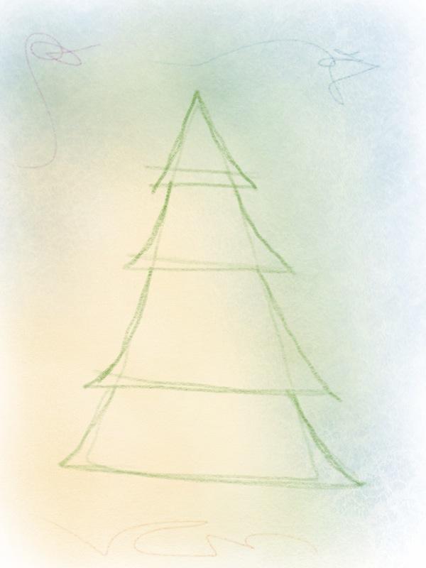 weihnachtsbaum zeichnen – 05