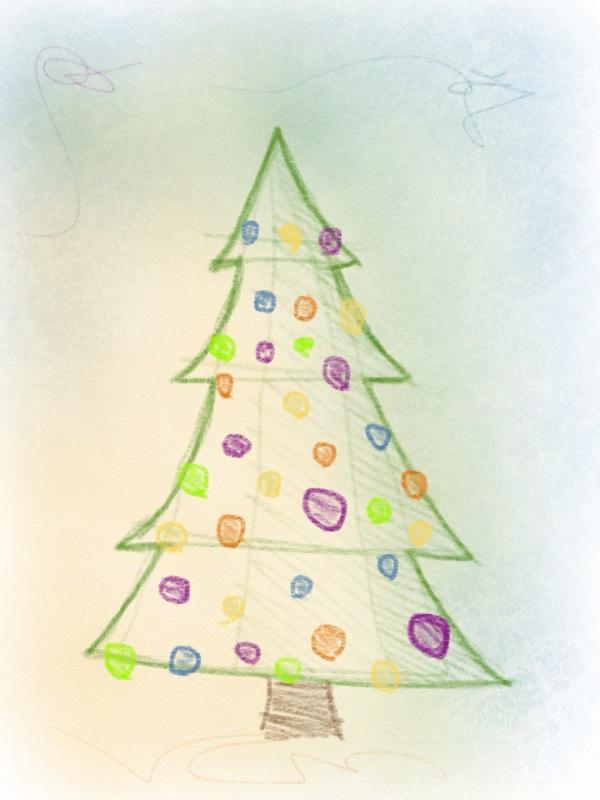 weihnachtsbaum zeichnen – 10