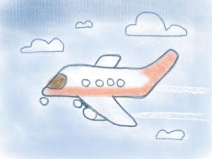 Flugzeug Zeichnen Finales Bild