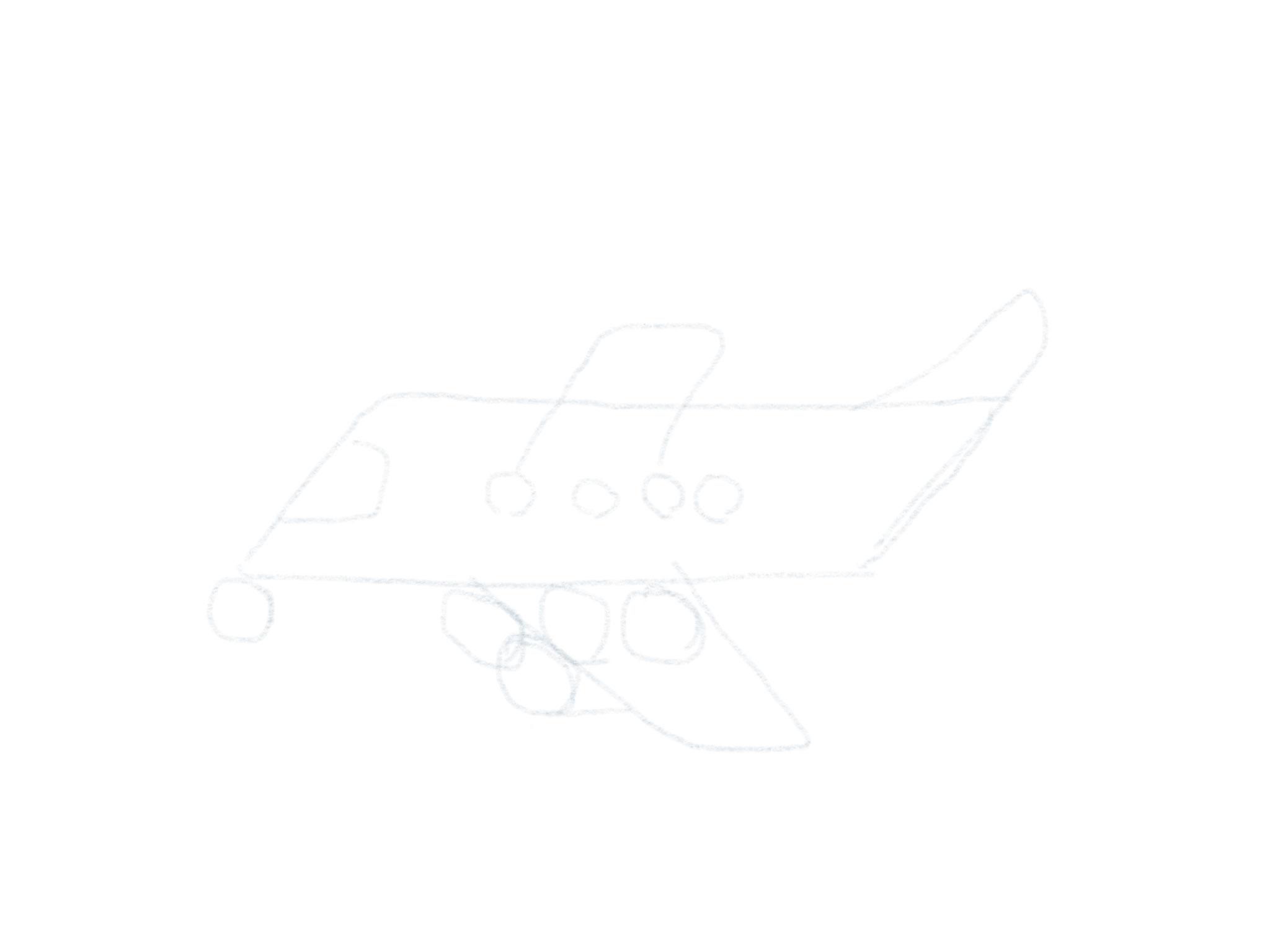 Flugzeug Zeichnen Turbine