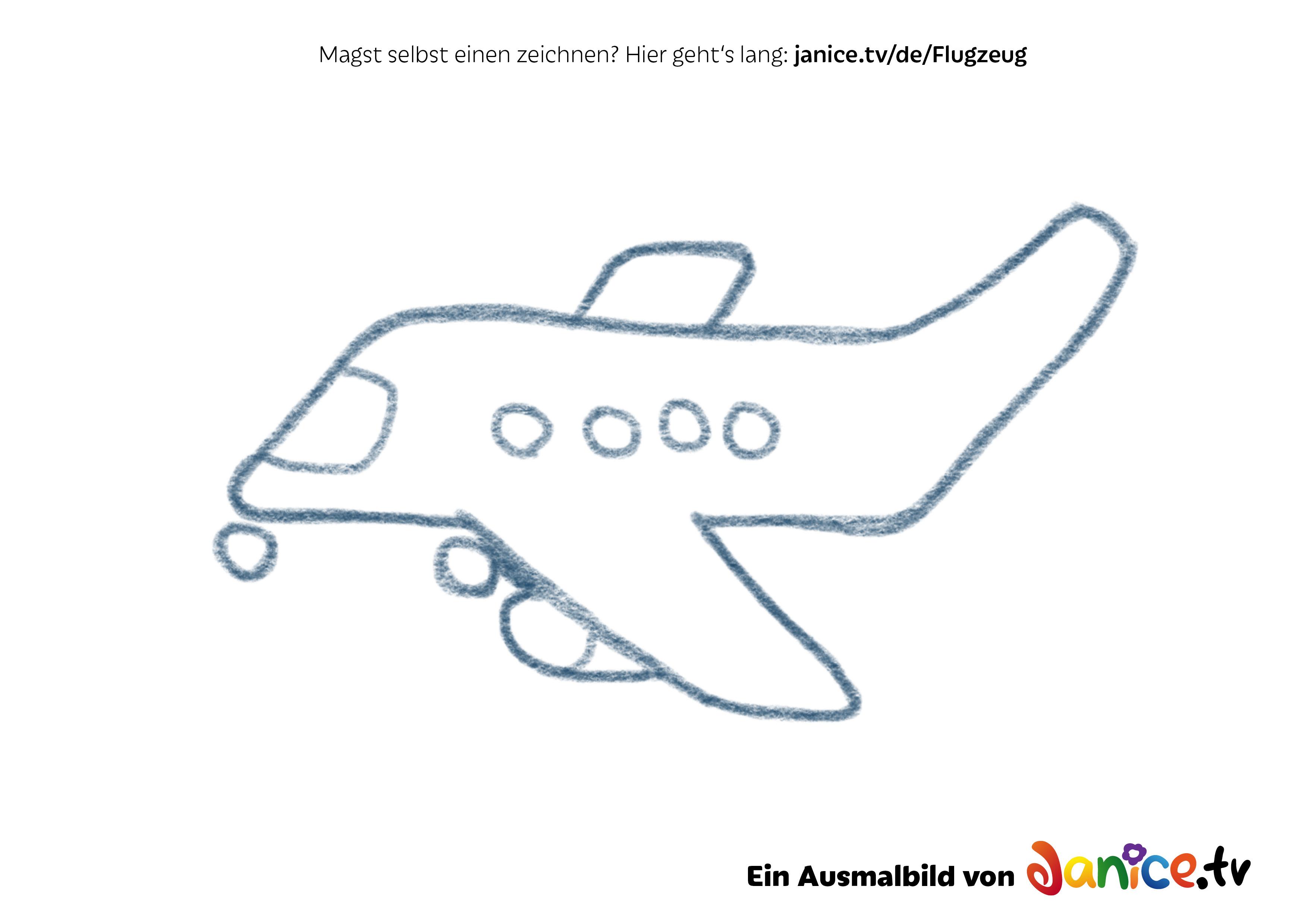 Ausmalbild Flugzeug