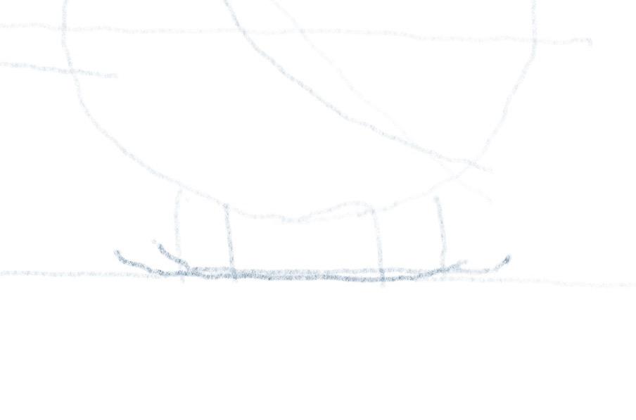 Hubschrauber zeichnen - Landegestell - Kufen
