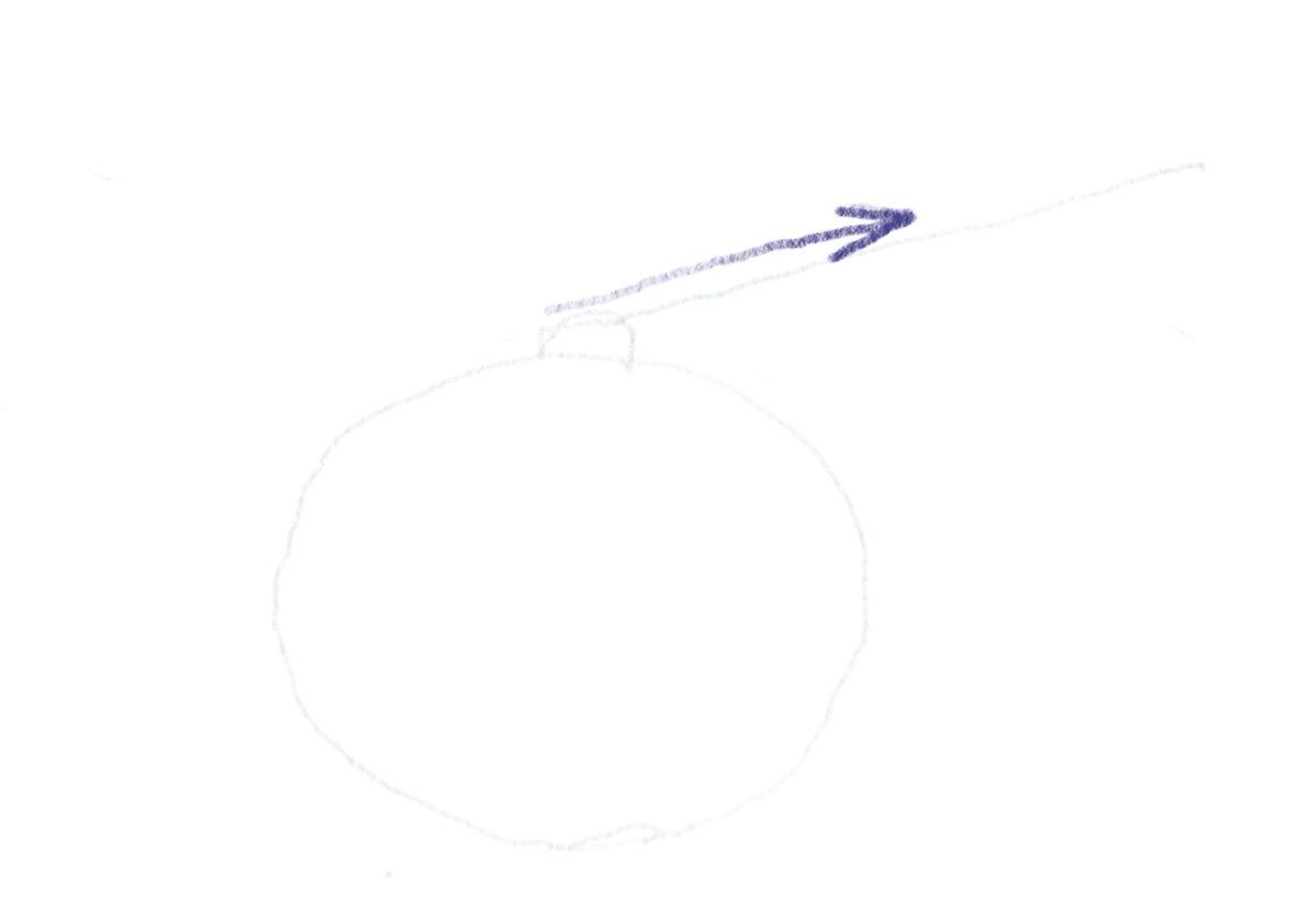 Hubschrauber zeichnen - Erstes Rotorblatt zeichnen