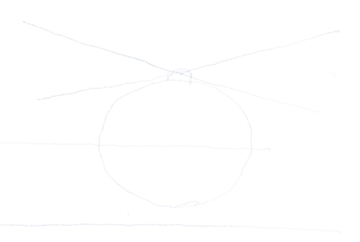 Hubschrauber zeichnen - Hilflinie für Höhenleitwerk