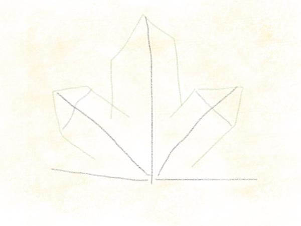 Kastanienblatt zeichnen – 07