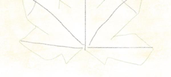 Kastanienblatt zeichnen – 08