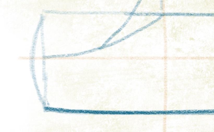 Luxusyacht zeichnen - Heck andeuten