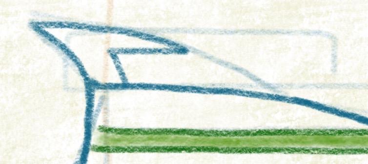 Luxusyacht zeichnen - Dachbereich - Antenne