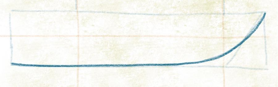 Luxusyacht zeichnen - Kiel andeuten
