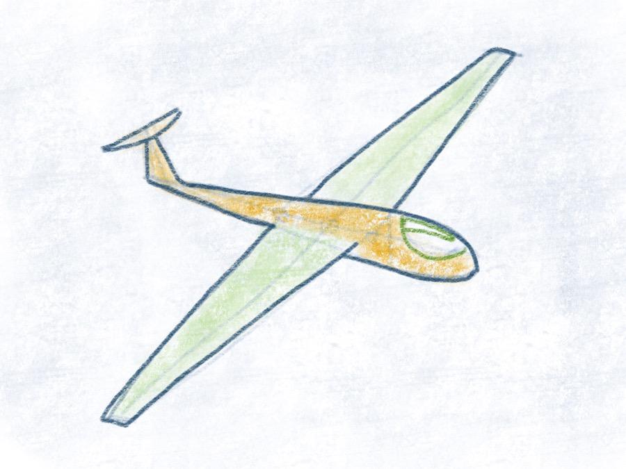 Segelflugzeug - Cockpit Spiegelung