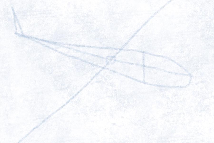 Segelflugzeug - Rumpf zeichnen