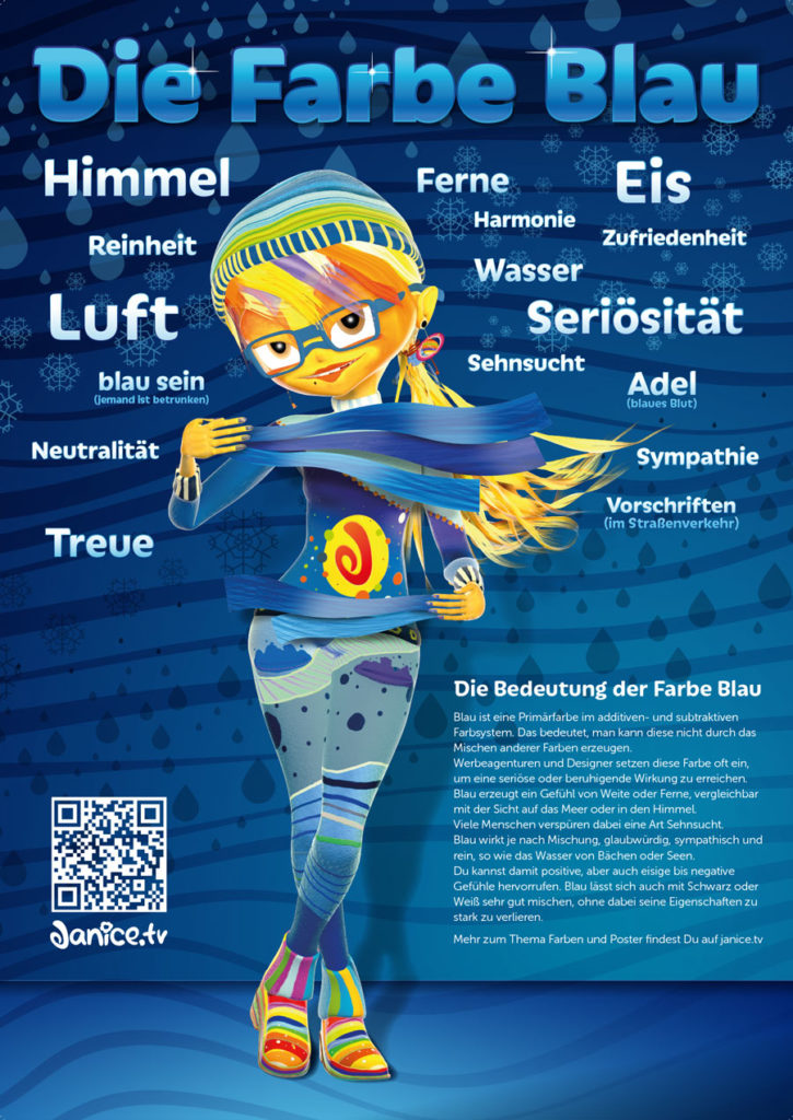 janice Poster Blau Web