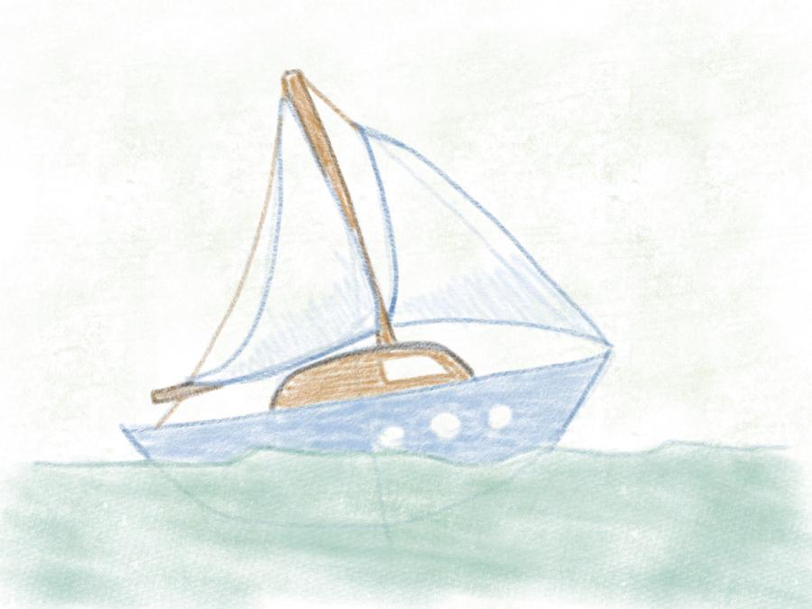 Segelboot zeichnung  Segelboot zeichnen ganz einfach gemacht - Janice.tv