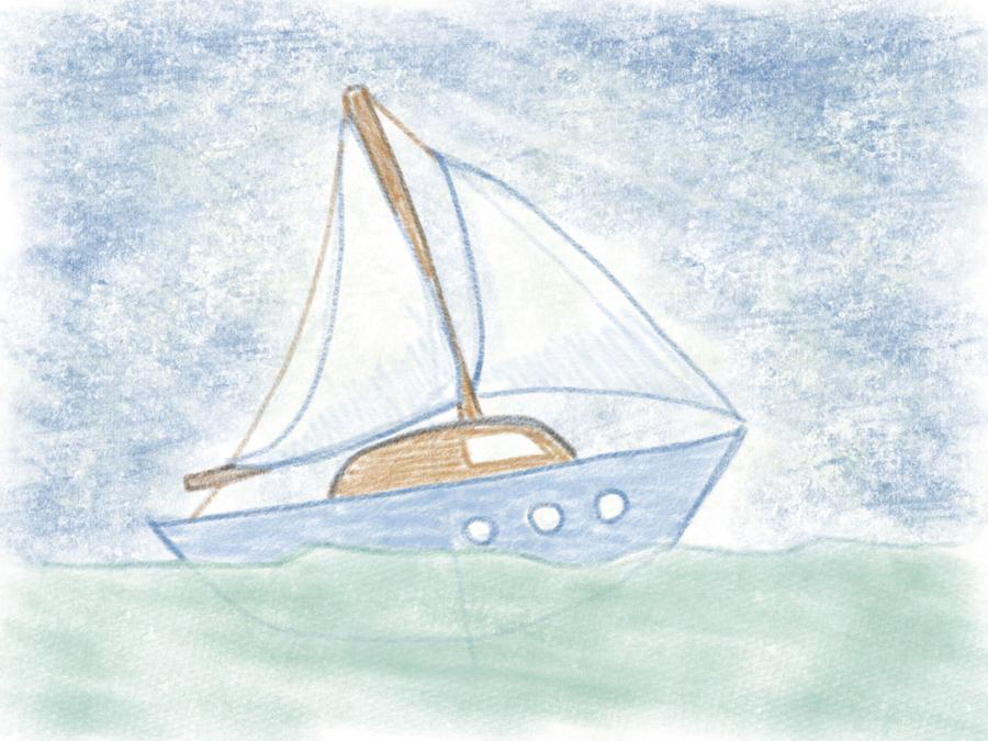 Segelboot zeichnen leicht gemacht