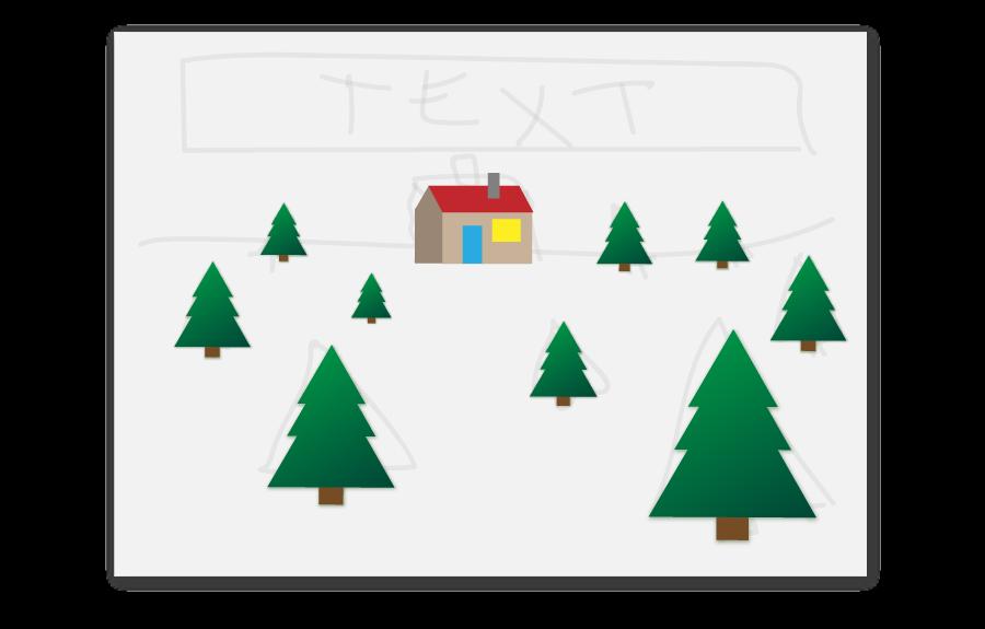 weihnachtskarte_haus_aufkleben_quer